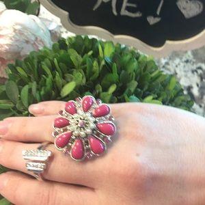 Lia Sophia Jewelry - 2 Ring Bundle Lia Sophia and a pink flower ring